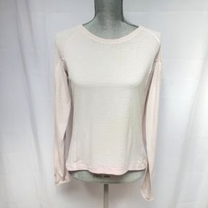Lululemon Light Pink Long Sleeve Stripes
